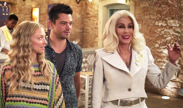 Amanda Seyfried and Cher in Mama Mia: Here We Go Again