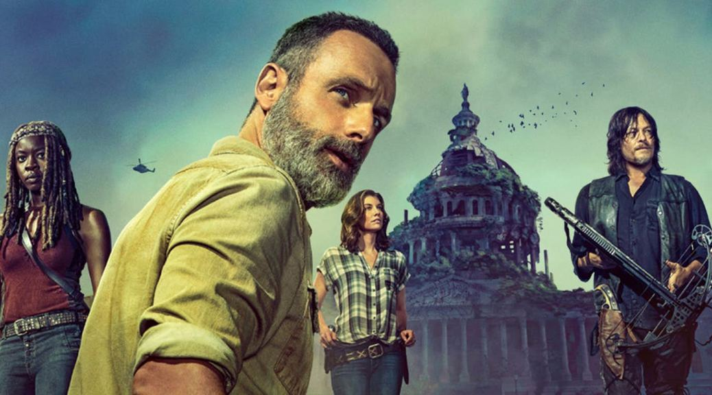 Danai Guria, Andrew Lincoln and Norman Reedus in The Walking Dead